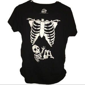 bbe2de4d2602b Crazy Dog T-Shirts Tops | Crazy Dog Skeleton Baby Maternity Tee ...